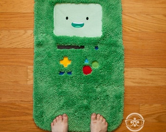 """Adventure Time """"BMO"""" Inspired - Embroidered Bath Mat"""