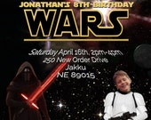 Star Wars (The Force Awakens) Printable Party Invitation  - with Photo