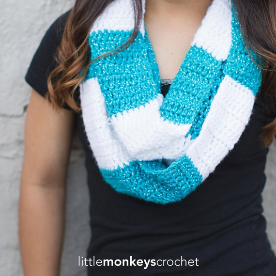 Crochet Pattern - Infinity Rugby Scarf (Rugby Infinity ...