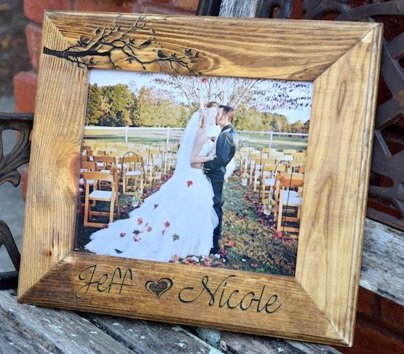 love birds wooden frame picture frame wedding gift. Black Bedroom Furniture Sets. Home Design Ideas