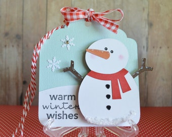 Christmas Gift Tags, Snowman Gift Tags, Christmas Tags, Warm Winter Wishes, Christmas wrapping, Christmas Decorations,Gift Tag Set,snowflake