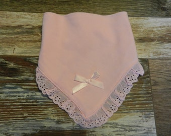 Pink Lace Baby Bib Personalize FREE New Born