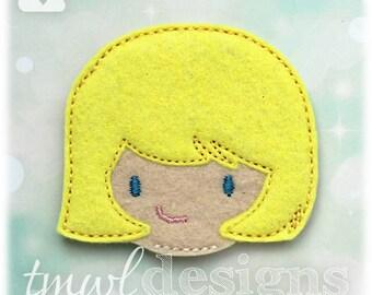 Girl Head OS Feltie Digital Design File