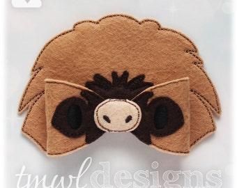 Felt Sloth Bow Digital Design File