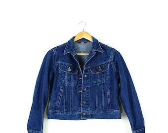Vintage Lee Indigo Blue Denim Jean Jacket from 1980's/Ladies*
