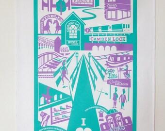 Camden Town tea towel / London illustration