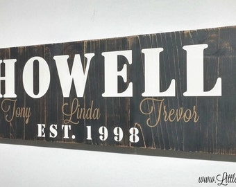 Family Established Wood Sign   Farmhouse Decor   Family Wall Sign   Rustic Name Sign   Cabin Signs   Last Name Wood Sign   Established Sign