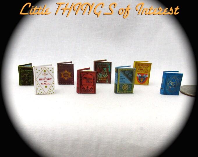 "1:24 Scale WIZARD STUDENTS TEXTBOOKS Miniature Books Dollhouse Illustrated Books Harry Potter ""Oculus Reparo!"""