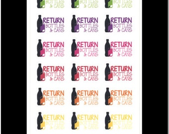 Bottle Return Stickers || Stickers for Life Planner