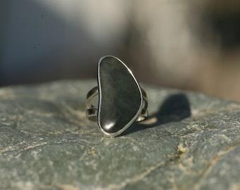 Big Sur Jade Sterling Silver Ring