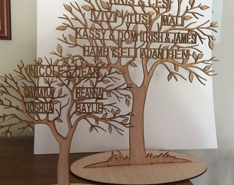 Family Tree Freestanding laser cut