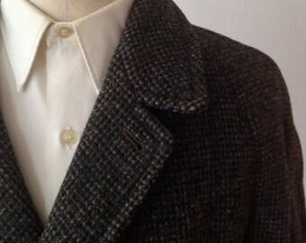 SALE Vintage 1950s Harris Tweed Overcoat from Benson and Rixon Size 44