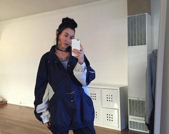 90s REEBOK Hooded Oversize Jacket