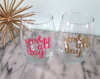 Rosé All Day Stemless Wine Glass