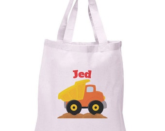 Construction Tote Bag | Dump Truck Tote | Personalized Tote Bag | DUMPTRUCK-101