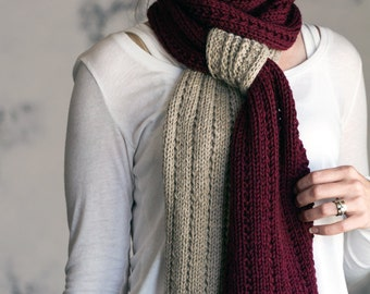 Scarf Knitting Pattern - RELIABLE - a set of instructions to knit