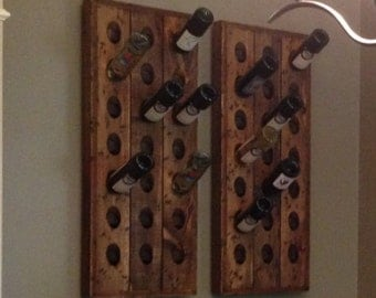 Two Distressed 21 bottle Riddling Racks, Riddling Racks, Champagne Riddling Racks, Wine Racks