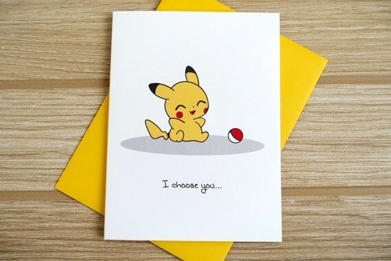 Pikachu Love/Friendship Card
