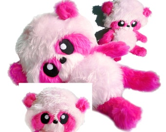 Big Fluse Kawaii Plush Panda Teddy  Pink - Light Pink