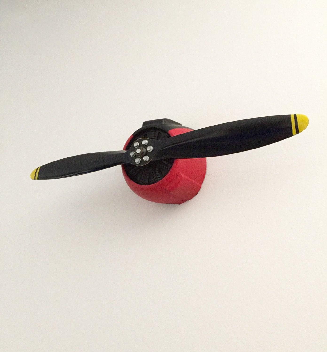 Vintage Plastic Wall Decor : Vintage rc airplane propeller wall art aviation enthusiast