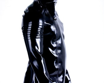 Latex Funnel Neck Jacket