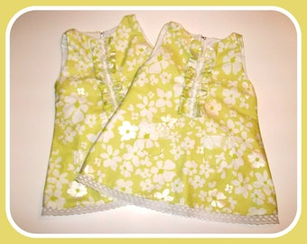 Miss Penny Green Floral 60's Retro Tunic Style Baby Dress size 12-18 months
