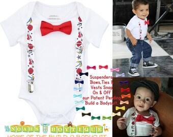 Rockabilly Baby Clothes - Rockabilly Baby Boy Outfit -  Tattoo Baby Outfit - Punk Rock Baby Outfit - Punk Baby Boy Clothes