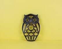 Leonard Silver Plated Owl Hotplate Trivet Made in Italy