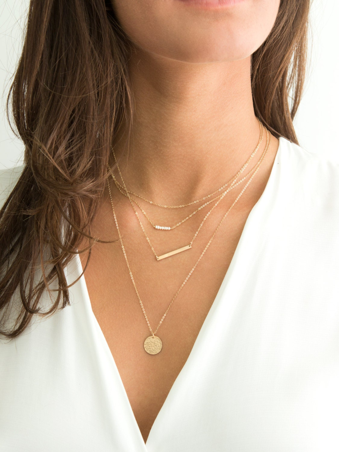 layered and long necklaces sterling silver rose gold gold. Black Bedroom Furniture Sets. Home Design Ideas