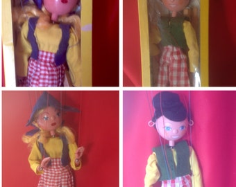 Vintage Puppets,Pelham Puppets, Vintage Toys,Dutch Girl and Boy, 1968, PRICE REDUCED.