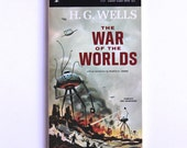 HG Wells, The War of the Worlds 1960s Vintage Paperback Cover Art, Science Fiction, Sci Fi VPRB01599