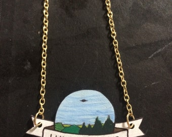X-FILES 'I Want To Believe' Poster Necklace