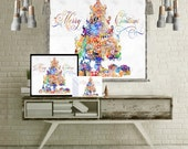 Gift for mom christmas decorations painting wall art large art print poster tapestry wall hanging printable women gift printable kids gift