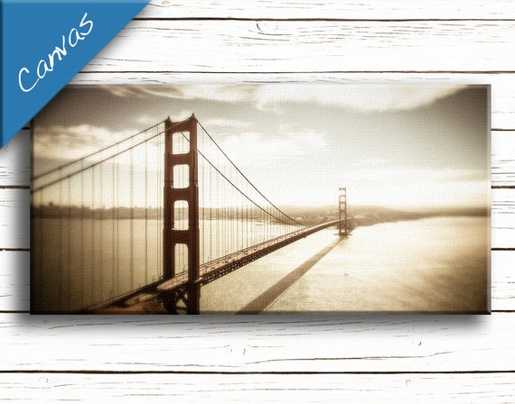 Golden Gate Bridge art, Large Canvas art, San Francisco canvas, Coastal art, Home decor wall art, Living room decor // Golden Gate Bridge