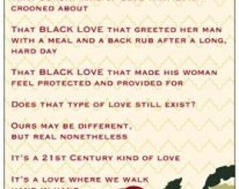 Black Love Poetry Card