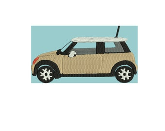 SALE PRICE. Dollar off SALE embroidery design Mini Cooper 2006 embroidery file 3 sizes more color options
