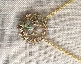 Tiny Gold Laurel Necklace