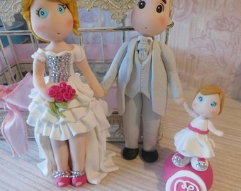 Wedding Cake Topper with baby