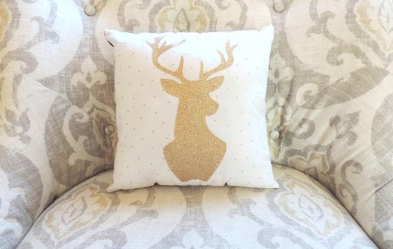 Https Www Etsy Com Listing 231511810 Glitter Gold Deer Silhouette Home Decor