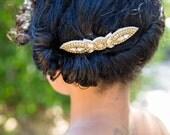 Austrian Crystal  Wedding Headpiece, Bridal, Rhinestone Headband - Nurene Hair Clip