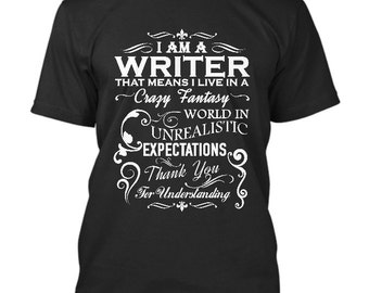 A Writer's World Steno T-Shirt - Funny T-Shirt for a Writer Size S - 5XL