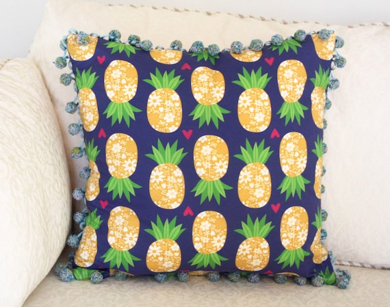 Pineapple Pillow with Down Insert 18x18