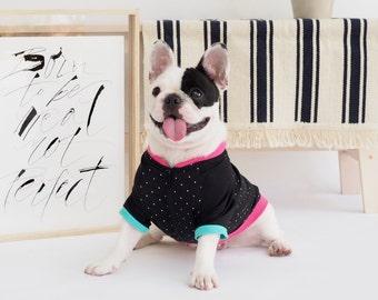 Oh! Basic Jacket Shirt / Black Polka Dots