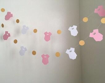princess onesie baby shower decorations onesie garland itu0027s a girl decoration onesie princess baby shower decoration