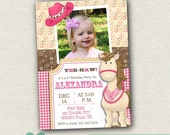 Printable Cowgirl Birthday Invitation - Birthday Girl Invitation Cowgirl - Western Party Invite - Cowgirl Party Invite