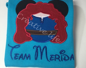 Disney  Merida Mousehead Shirt - Personalized - Adult Merida Brave- Brave Merdia