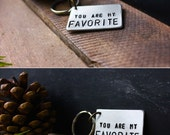 Personalized Key Tag - Custom Accessories - Hand Stamped Key Chain by Modern Out
