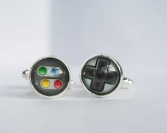 Gaming Guy/Gal Cuff Links 12mm Glass Cabochon