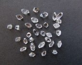 31 TINY Herkimer Diamonds 5 Gram Bulk Lot - Small Quartz Crystals from Herkimer New York Double Terminated Raw Crystals - Herkimer Diamonds