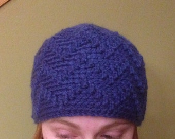 Blue Zig Zag Hat
